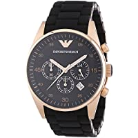Emporio Armani AR5905 Chronograph Mens Watch (Black)