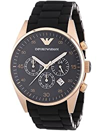 Emporio Armani  AR5905 - Reloj de cuarzo para hombre, con correa de acero inoxidable, color negro