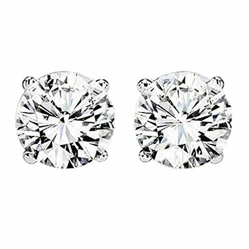 Diamond Studs Forever Ohrringe, 14 Karat (585) Weißgold Diamant 0,50 ct Rundschliff D/VVS1 - Forever Diamond
