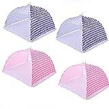 OneMoreT, copertura ad ombrello zanzariera, per picnic, barbecue, cucina, Pink Blue(12inch)