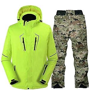 Z&X Skijacke für Herren Single und Double Skibekleidung Winddicht wasserdicht warm gepolstert Skianzug professionelle Bunte Schutzausrüstung
