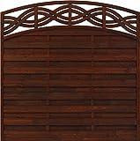 Andrewex Sichtschutzzaun Chateao 164 / 180 x 180 cm (Höhe x Breite cm ) lasiert, farbig endbehandelt, Farbton Braun aus Holz Windschutz / Sichtschutz