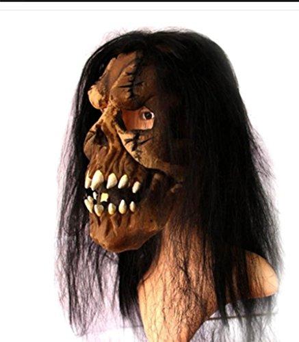 MFFACAI Super Horror Bar Halloween Grimasse Kopfbedeckung Variation Verdorbenes Fleisch rasieren Peeling Zombie Maske