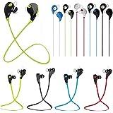 Theoutlettablet® Auriculares In-Ear conexión inalámbrica por Bluetooth HIFI Estéreo Dispone de Micrófono Manos Libres para Smartphone BQ Aquaris X5 COLOR AZUL (QY7)
