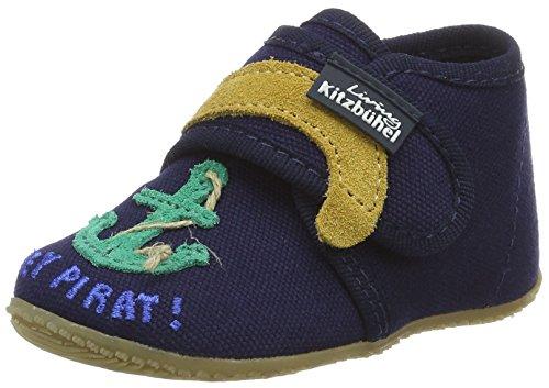 Living Kitzbühel Baby Klett Löwe/Anker, chaussons d'intérieur bébé garçon Bleu Marine