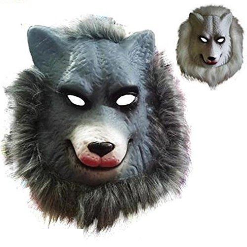 ParttYMask Maskerade,Tier Maske Löwe Tiger Wolf Orang-Utan AFFE Leopard Kind Spielzeug Wolf ()
