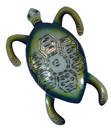 Metall - Wandlampe Schildkröte farbig / Bali Wandlampen