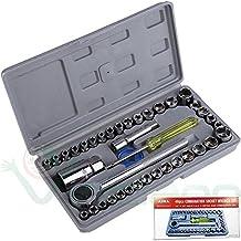 Kit 40 chiavi bussola chiave cricchetto tubo