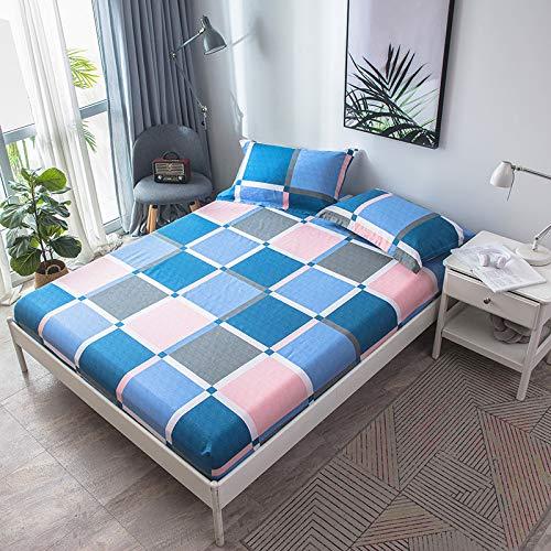 huyiming Verwendet für Twill gedruckte Einzelbettdecke 1,5/1,8 m Bettdecke Betttasche Simmons Matratzenbezug Laken Bedruckte Lebensdauer 150 * 200 Einzelbettdecke