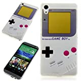 Handy Lux® Schutz Hülle Etui Silikon TPU Case Cover Design Motiv für HTC One mini 2 - Gameboy Nintendo
