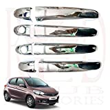 #10: RedClub Presents Prius Chrome Plated Door Handles/ Catch Covers for Tata Tiago with Free 01 pair of RedClub Blind Spot Mirrors & 01 RedClub Pen