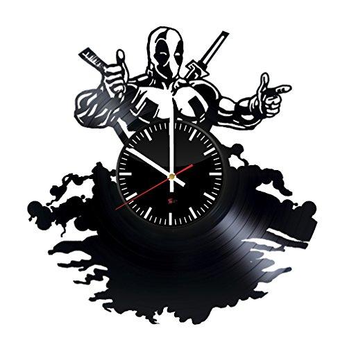 Starling Studio Cooles Superhelden-Design Vinyl-Wanduhr - perfekte Wohnzimmer-Dekorationsidee - originelles Männer und Jungen - - Machen Harley Quinn Kostüm