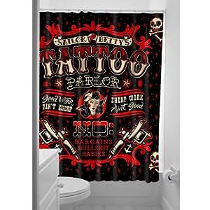 Sourpuss Sailor betty rideau de douche tattoo parlor guitare acoustique
