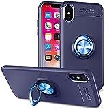 Slynmax Coque iPhone X Blue Bague Étui iPhone X Housse de Protection Case Mince avec...