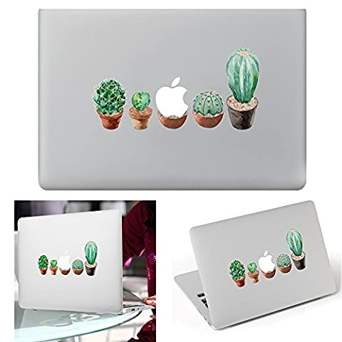 Macbook Aufkleber Abziehbild, YUDA Tech Abnehmbar Kaktus Entwurf Vinyl Decal Haut Stickers Passt Perfekt f¨¹r Laptop MacBook Air/Pro/Retina 13 15 Zoll