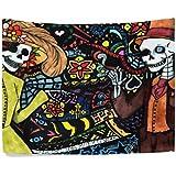 feiliandajj carácter patrón tipo chal Wrap tapiz manta ropa de cama colcha colgante de pared Mantel toalla de playa decorativo manta meditación Yoga Mat Arena libre al aire libre 130x 150cm