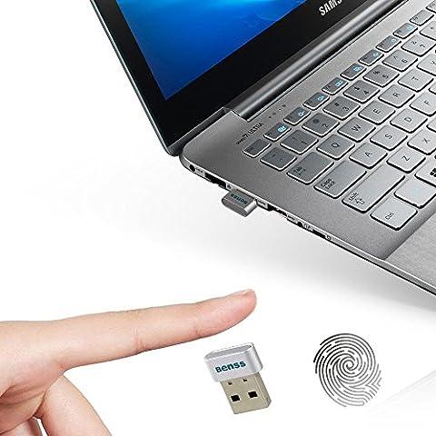 Benss Smart & Multi Touch Lecteur d'empreintes digitales Mot de passe Verrou de sécurité pour ordinateur portable PC Ordinateur prise en charge de Windows 10