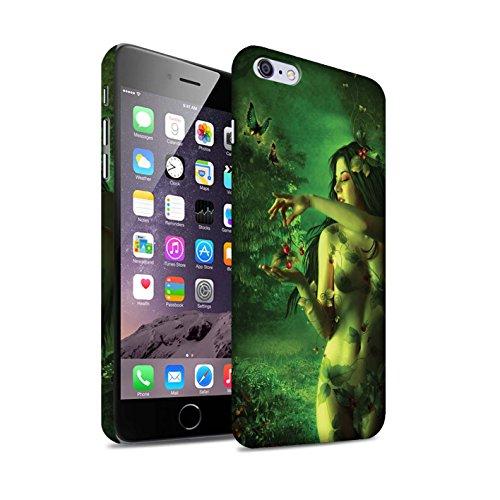 Officiel Elena Dudina Coque / Clipser Matte Etui pour Apple iPhone 6+/Plus 5.5 / Bain Caché Design / Un avec la Nature Collection Cerises Rouges
