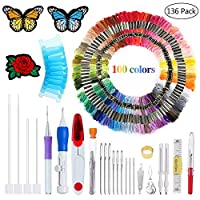 Outus 1104 Pieces Jewelry Findings Kit Lobsters Clasps and Jump Rings for Jewelry Making (Multicolor B)