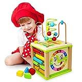 Titiyogo Giochi Legno Bambin Centri Attività Cubi Legno Giocattoli Bambino 1 Anno