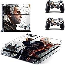 Playstation 4 + 2 Controller Aufkleber Schutzfolie Set - The Witcher (4) /PS4