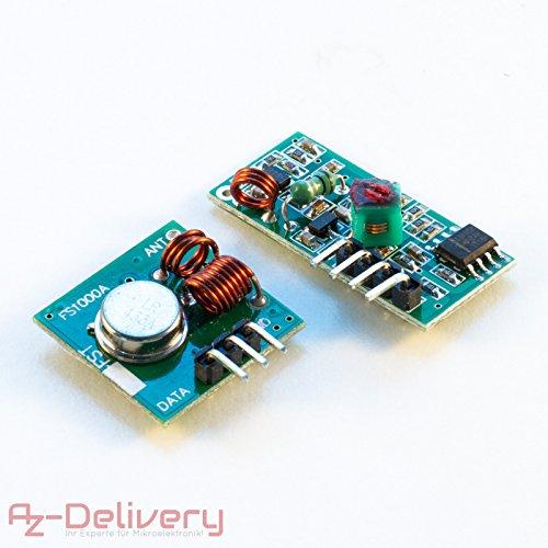 funk receiver AZDelivery ????? 433 MHz Funk - Sende und Empfänger Modul Set für Raspberry und Arduino Wireless Transmitter Receiver mit gratis eBook!