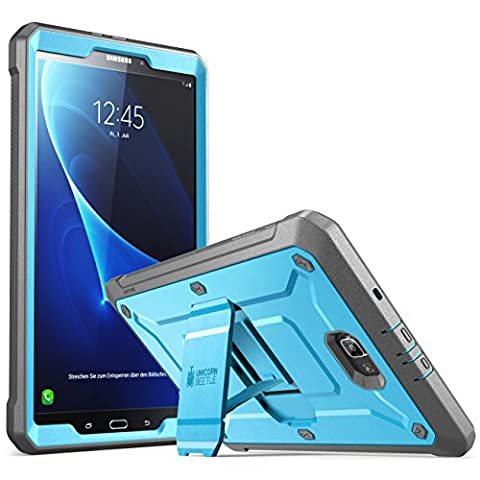 Galaxy Tab 10.1 Protezione, SUPCASE [Heavy Duty] [Unicorn Beetle PRO Series] Custodia protettiva robusta con protezione dello schermo incorporata per Samsung Galaxy Tab A 10.1 pollici (2016) (bleu/noir)