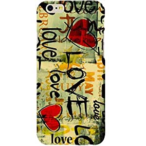 Casotec Love Text Design Hard Back Case Cover for Apple iPhone 6 / 6S