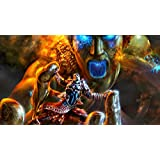 Athah Designs Wall Poster 13*19 Inches Matte Finish God Of War II God Of War PSP Fire Flame