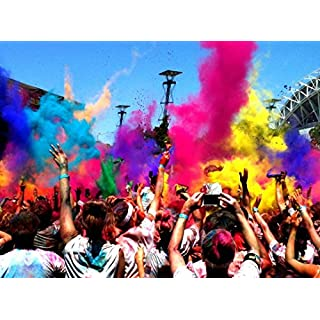 HOLI Colored Powder Festivals Celebrations Parties, Green color Powder 500 gram bag