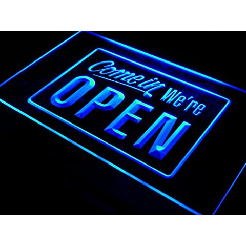 Insegna al neon i001-b We're OPEN Shop cafe Bar Display Neon Light Sign - Neon Open Bar