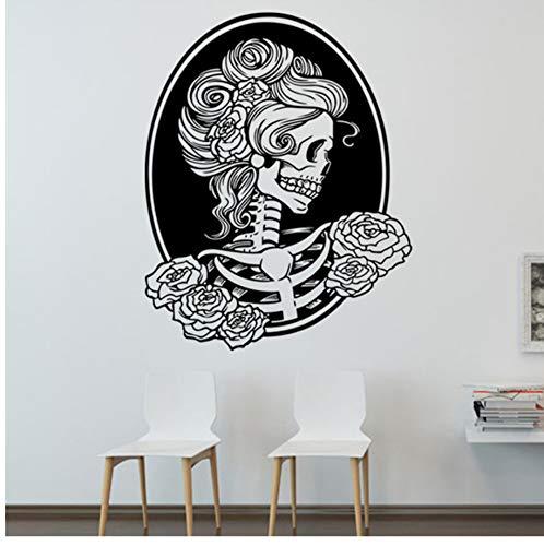 Mhdxmp Wand Kunst Diy Halloween Skelett Hintergrund Dekoriert Wohnzimmer Schlafzimmer Wand Aufkleber Schablonen Drop Shipping (Halloween Kaffee Schablonen)