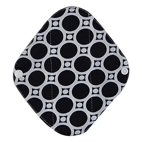 Pad culotte menstruelle, Ularma Réutilisable en bambou Charocoal lavable tampon menstruel Mama serviette hygiénique (S, Noir)