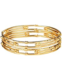 Pourni 24kt Gold Plated 2 Bangles Set For Women -HM58
