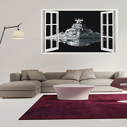 "Lover Mall® Raumfahrzeug 3D poqiang Non-toxische High-Definition dreidimensionale Wandaufkleber (23,6 ""x 39,4"")"