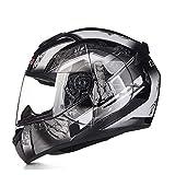 Motorrad Racing voll Helm Outdoor Anti-Nebelreiter Personalien Männer und Frauen,2,L