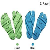 Nakedfeet Unisex 2 Paar (4 Stück) Hautfreundliches Fußsohlentape / Klebesohlen In Blau Und Grün In L ( 25-34cm... preisvergleich bei billige-tabletten.eu