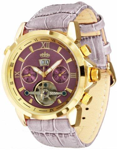 Lindberg & Sons - LS-G-Hvio-L-U - Montre Mixte - Automatique - Chronographe - Bracelet cuir violet