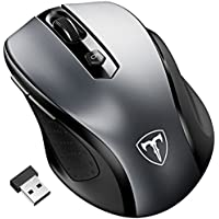 Patuoxun Wireless Mouse, 2.4G USB Wireless Mice Pc Laptop Computer Cordless Mouse with Nano Receiver, 6 Buttons, 2400 Dpi 5 Adjustment Levels For Windows Mac Macbook Linux, Energy Saving Mouse