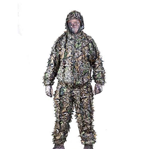 DONG 3D Tarnanzug Ghillie Suit Waldland Schießen Wildlife Fotografie Halloween,Green-OneSize
