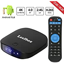 [2018 Última Edición] Q2 Mini Android 7.1 TV Box, Quad-core Cortex-A7 2GB RAM+8GB ROM Smart TV Box/Wifi 2.4GHz/BT 4.0/HD/H.265/4K(60 HZ)/LAN 100M