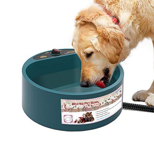 QQGGXX Wasser Fütterung Schüssel,Beheizte Futternapf, beheizte Futternapf für Haustiere Konstante Temperatur Wasserfutterautomat für Haustierhunde Katzen Kaninchen Vögel -