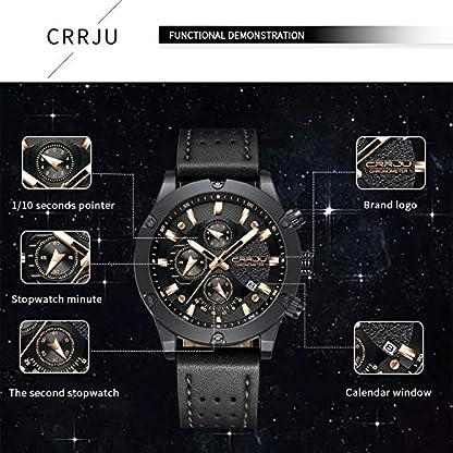Herren-Armbanduhr-modisch-sportlich-Quarzuhrwerk-wasserdicht-Lederarmband-mit-goldfarbenem-Zeiger