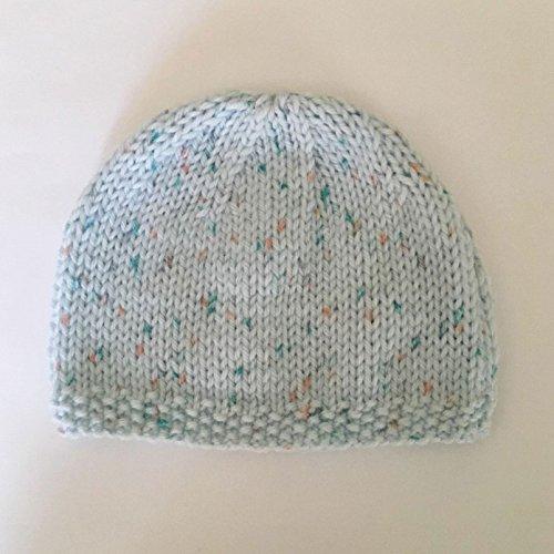 Bonnet de Naissance Bébé Fait Main : Blue Taille 0 - 3 Mois