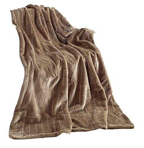 Haute Qualité Plaid Imitation Fourrure, Taupe/Brun claire, Plaid 150 X 200 Vison Couverture plaid couvre-lit Fausse Fourrure …