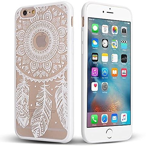Coque iPhone 6/6S, [Anti-Rayures] [Gaufrage] TPU Pare-chocs + Acrylique Mélange Panneau Dur Protection Pour iPhone 6s/iPhone 6