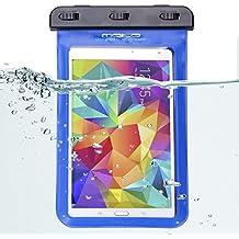 MoKo Funda Impermeable - Universal Waterproof Para iPad Mini 4 3 2 1/ Nexus 7/ G Pad 7.0/ 8.0/ 8.3/ Venue 7.0/ 8.0/ 8.0 Pro, Lenovo Tab A7 y Tableta 8.4 Pulgadas - IPX8 Certificado, AZUL
