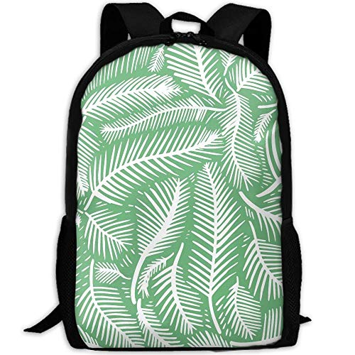 shuangshao liu Hawaii Beach Palms Leaves Unisex Adult Custom Rucksack,School Leisure Sports Book Bags,Durable Oxford Outdoor College Laptop Computer Shoulder Bags,Lightweight Travel Tagesrucksäcke