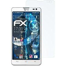 3 x atFoliX Antichoque Película Protectora LG Optimus L9 II (D605) Protector Película - FX-Shock-Clear