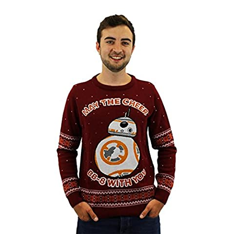 Star Wars Official BB-8 Christmas Jumper / Sweater - Small (M Und S Christmas Jumper)
